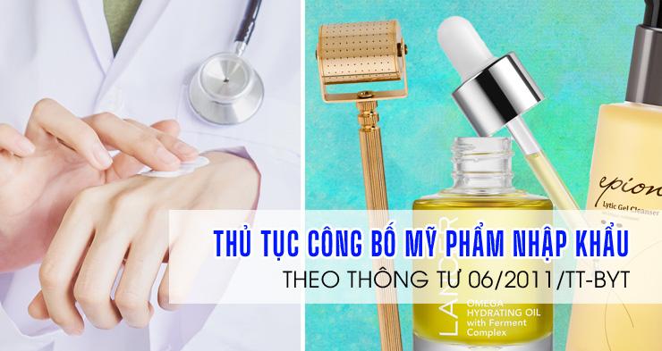 CBMP-Thủ tục làm hồ sơ công bố mỹ phẩm nhập khẩu tại Việt Nam