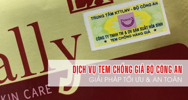 TEM-Dịch vụ cung cấp tem chống hàng giả của Bộ Công An