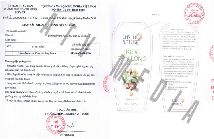 mẫu giấy phép quảng cáo mỹ phẩm