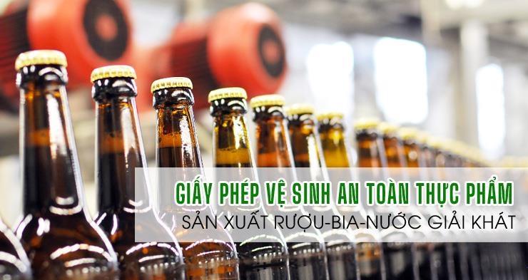 ATTP-Dịch vụ giấy phép an toàn thực phẩm sản xuất rượu, bia, nước giải khát