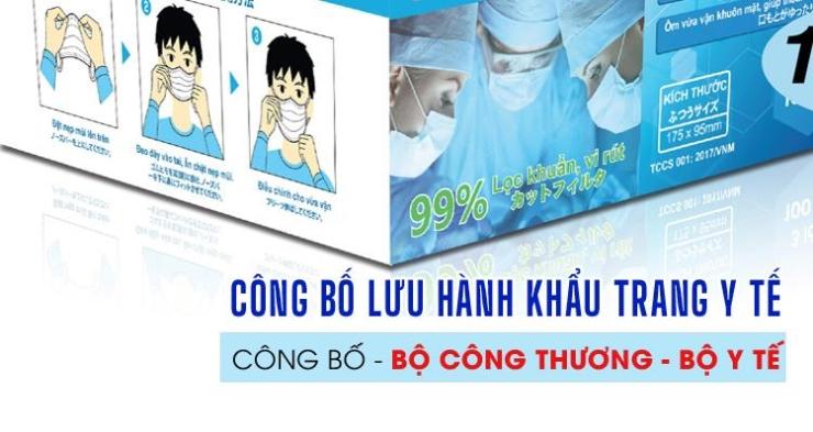 Công bố lưu hành khẩu trang Y tế tại Bộ Y tế, Bộ Công thương